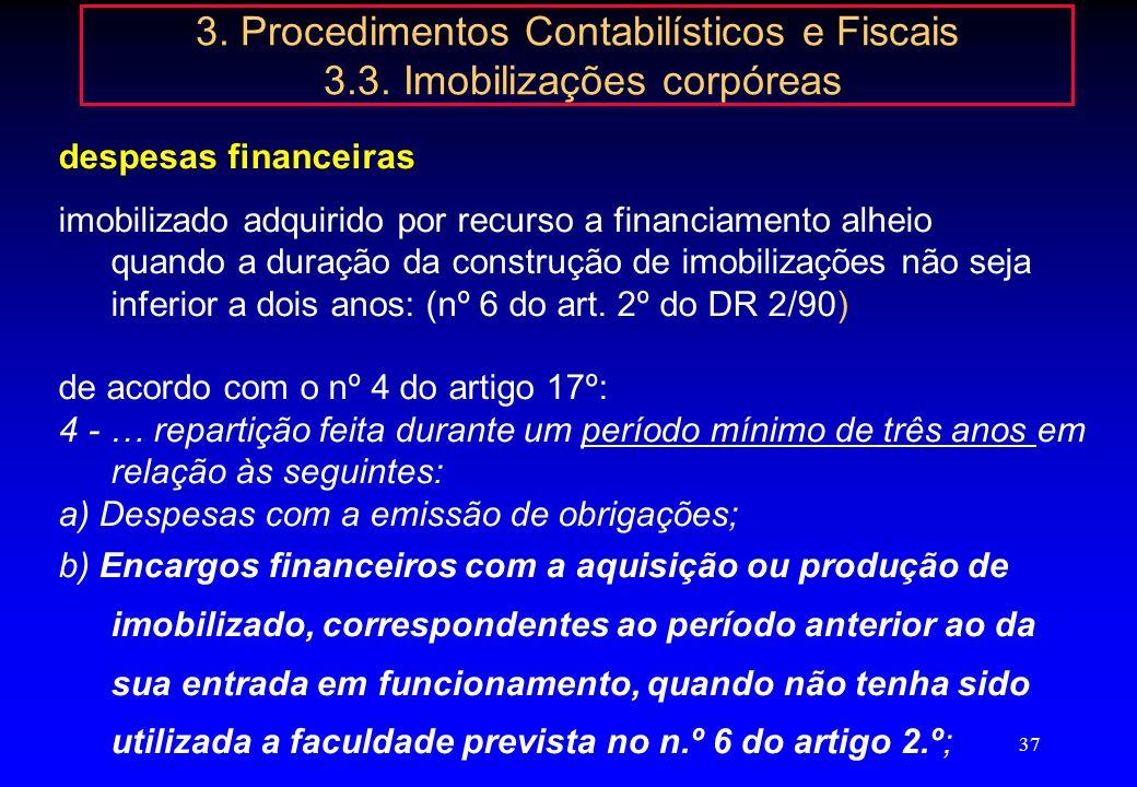 3. Procedimentos Contabilísticos e Fiscais 3. 3