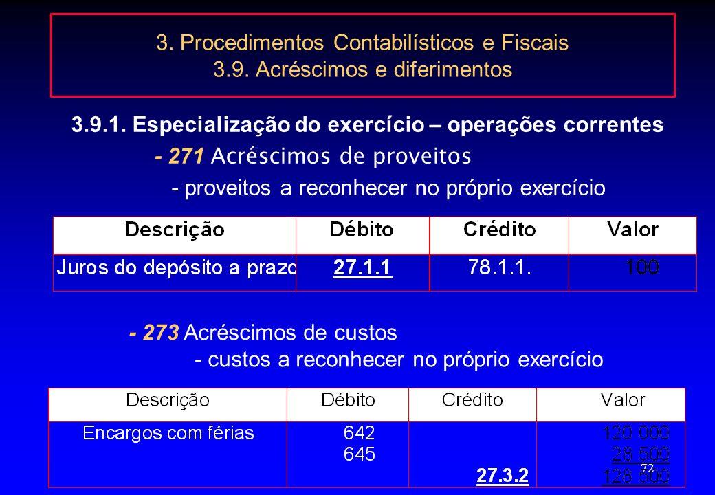 3.9.1. Especialização do exercício – operações correntes