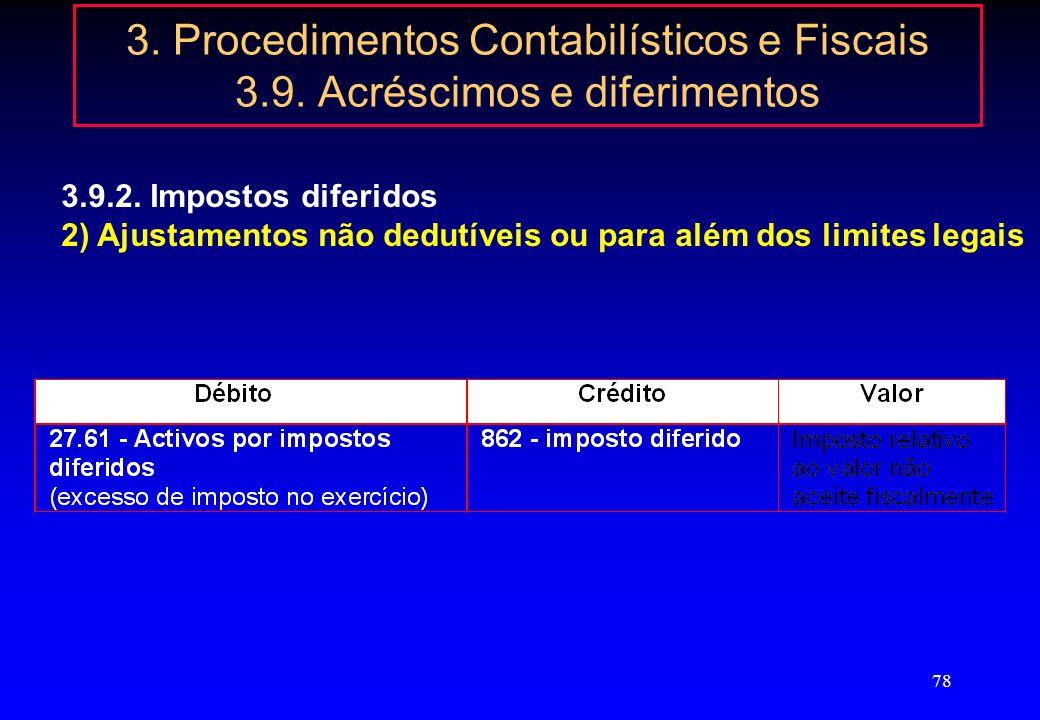 3. Procedimentos Contabilísticos e Fiscais 3. 9