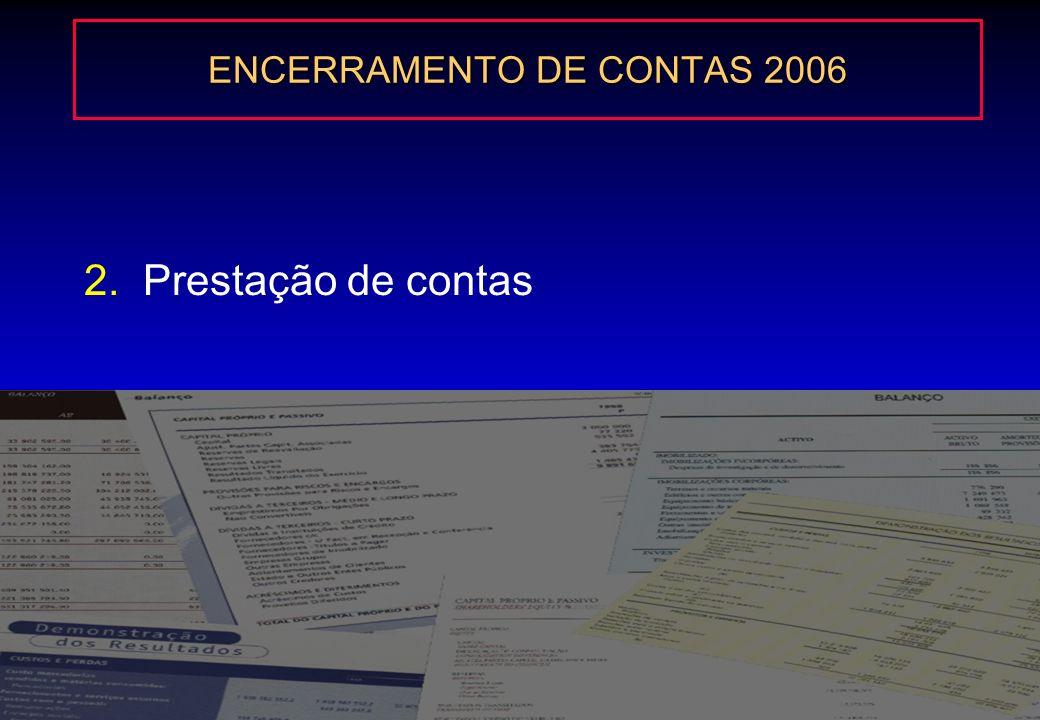 ENCERRAMENTO DE CONTAS 2006