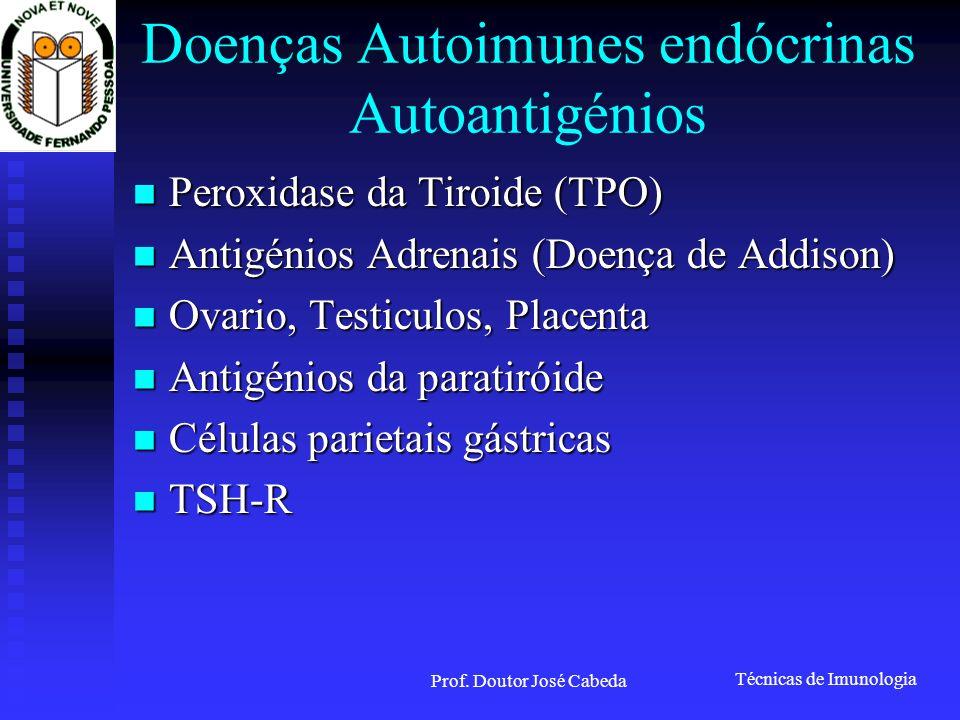 Doenças Autoimunes endócrinas Autoantigénios