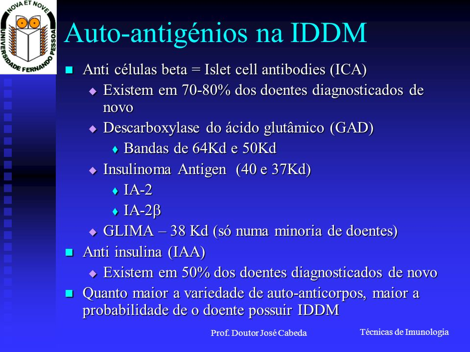 Auto-antigénios na IDDM
