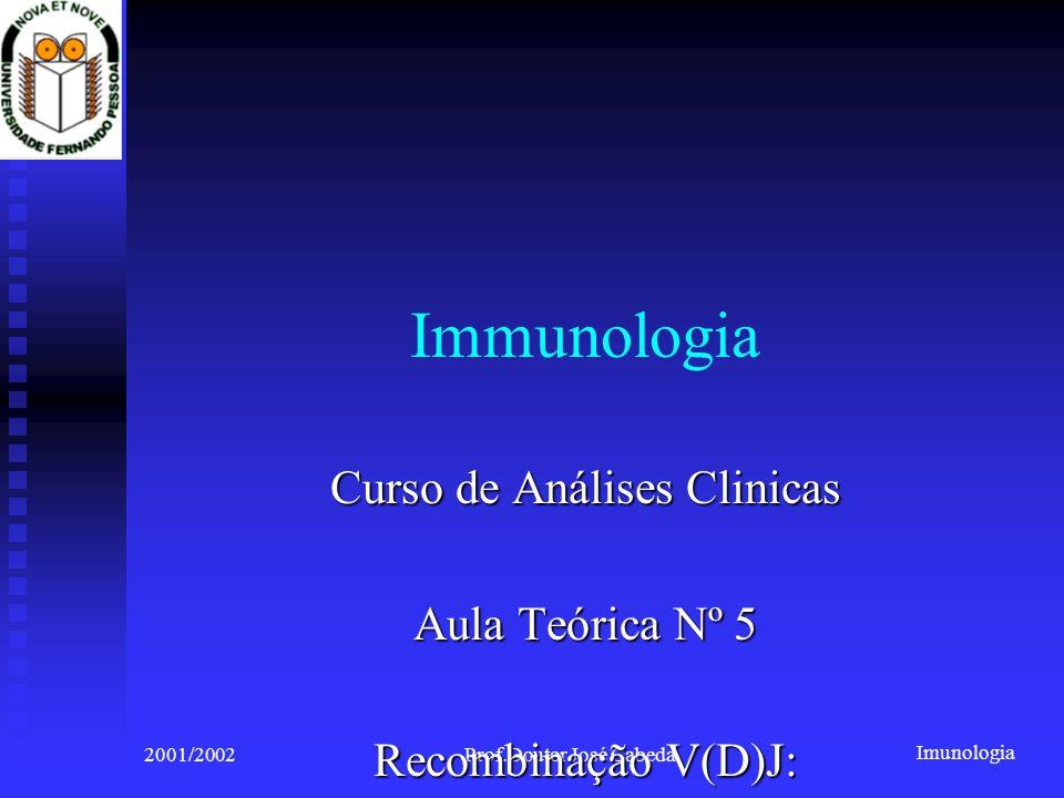 Immunologia Curso de Análises Clinicas Aula Teórica Nº 5