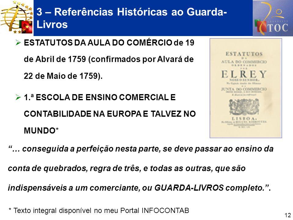 3 – Referências Históricas ao Guarda-Livros