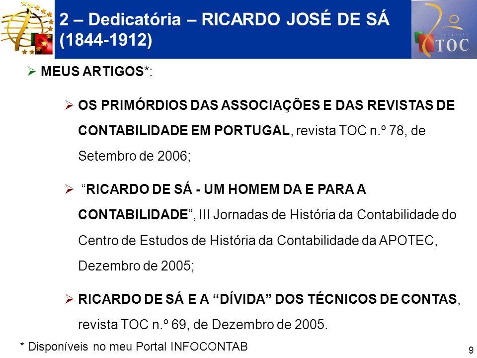 2 – Dedicatória – RICARDO JOSÉ DE SÁ (1844-1912)