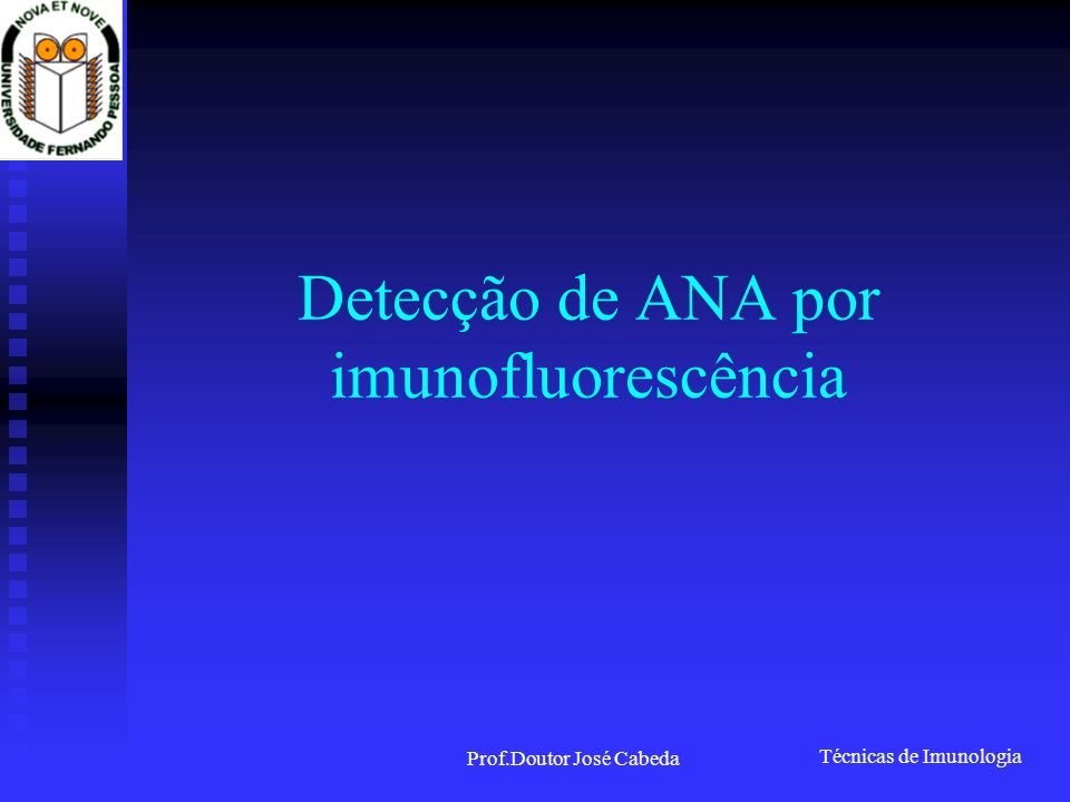 Detecção de ANA por imunofluorescência