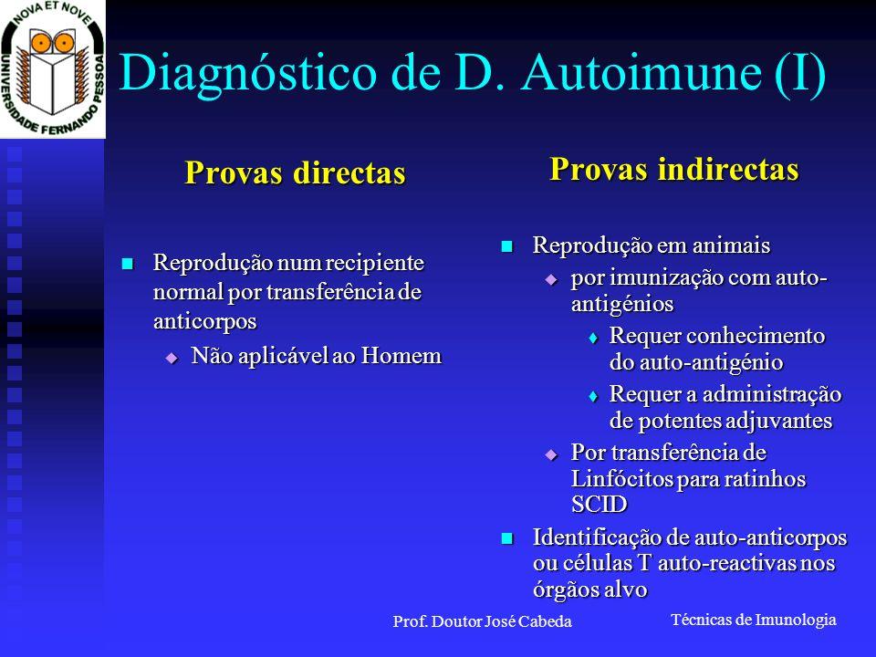 Diagnóstico de D. Autoimune (I)