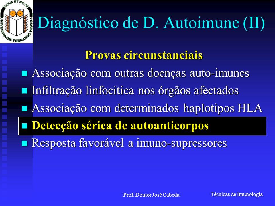 Diagnóstico de D. Autoimune (II)