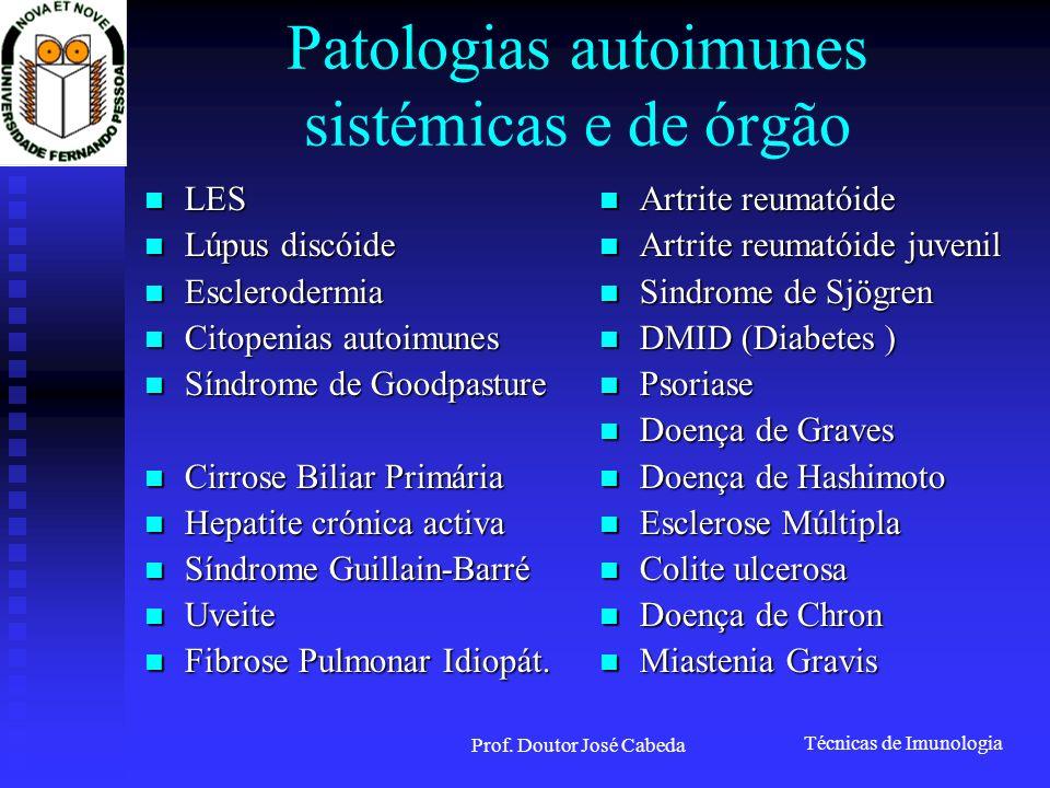Patologias autoimunes sistémicas e de órgão