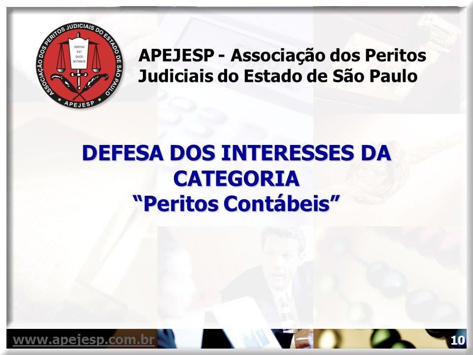 DEFESA DOS INTERESSES DA CATEGORIA