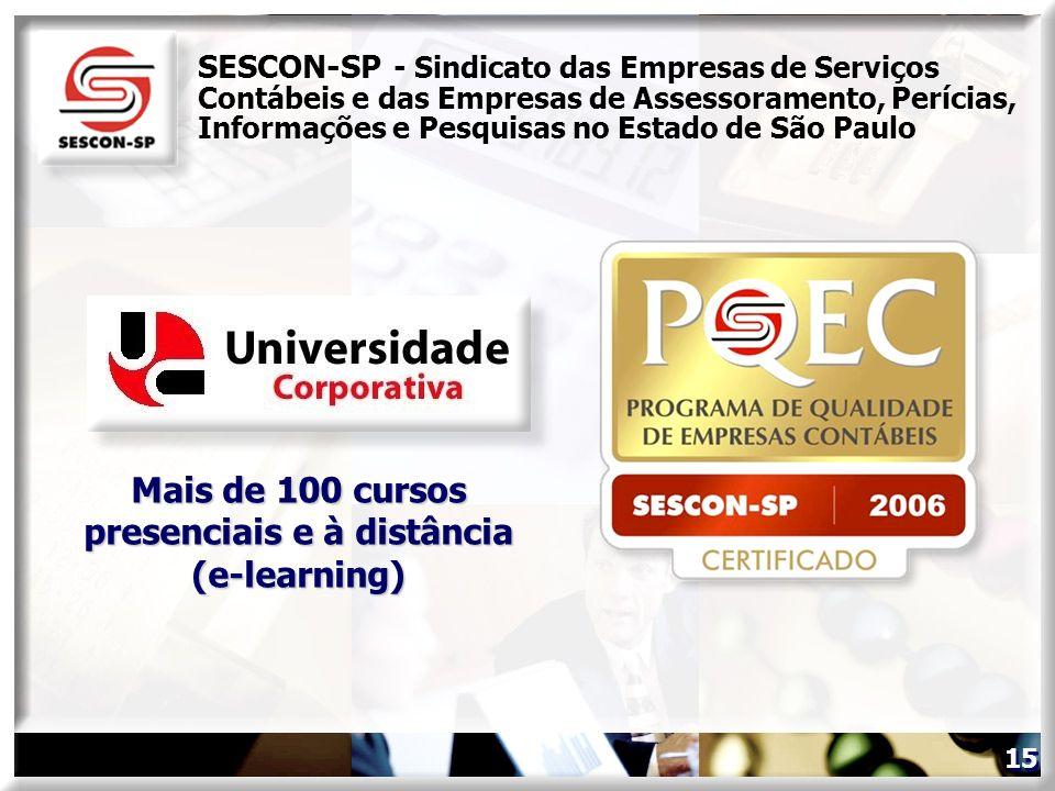 Mais de 100 cursos presenciais e à distância (e-learning)