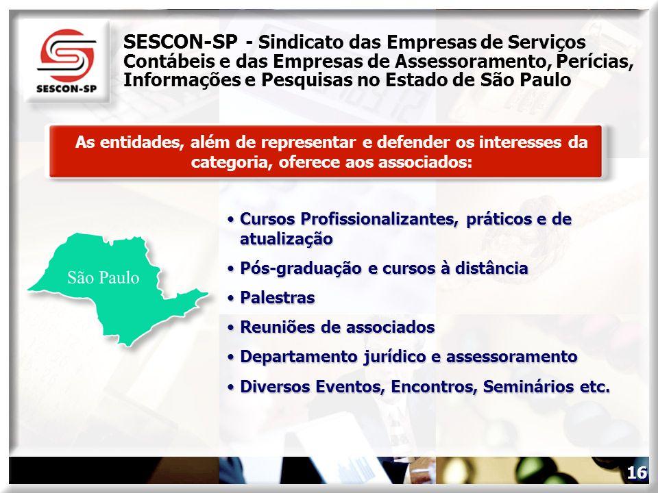 SESCON-SP - Sindicato das Empresas de Serviços Contábeis e das Empresas de Assessoramento, Perícias, Informações e Pesquisas no Estado de São Paulo