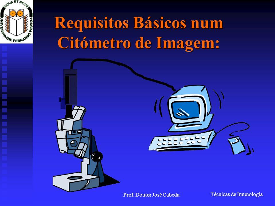 Requisitos Básicos num Citómetro de Imagem: