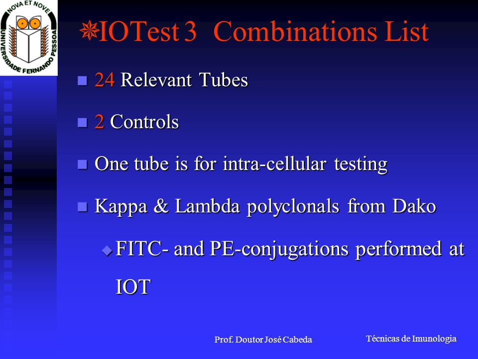 IOTest 3 Combinations List