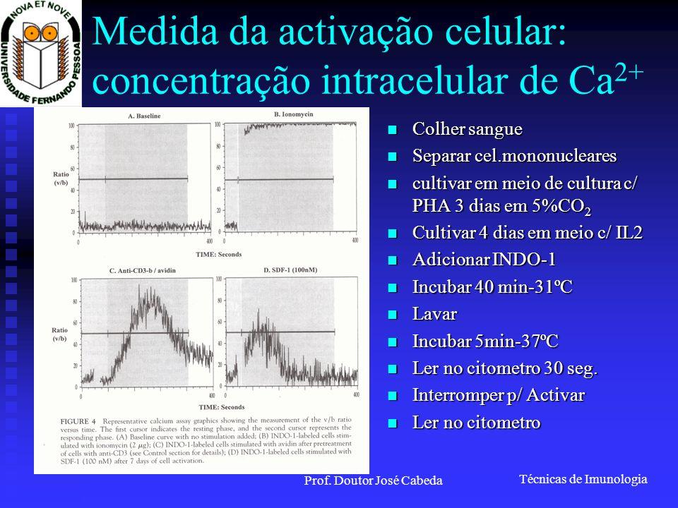 Medida da activação celular: concentração intracelular de Ca2+
