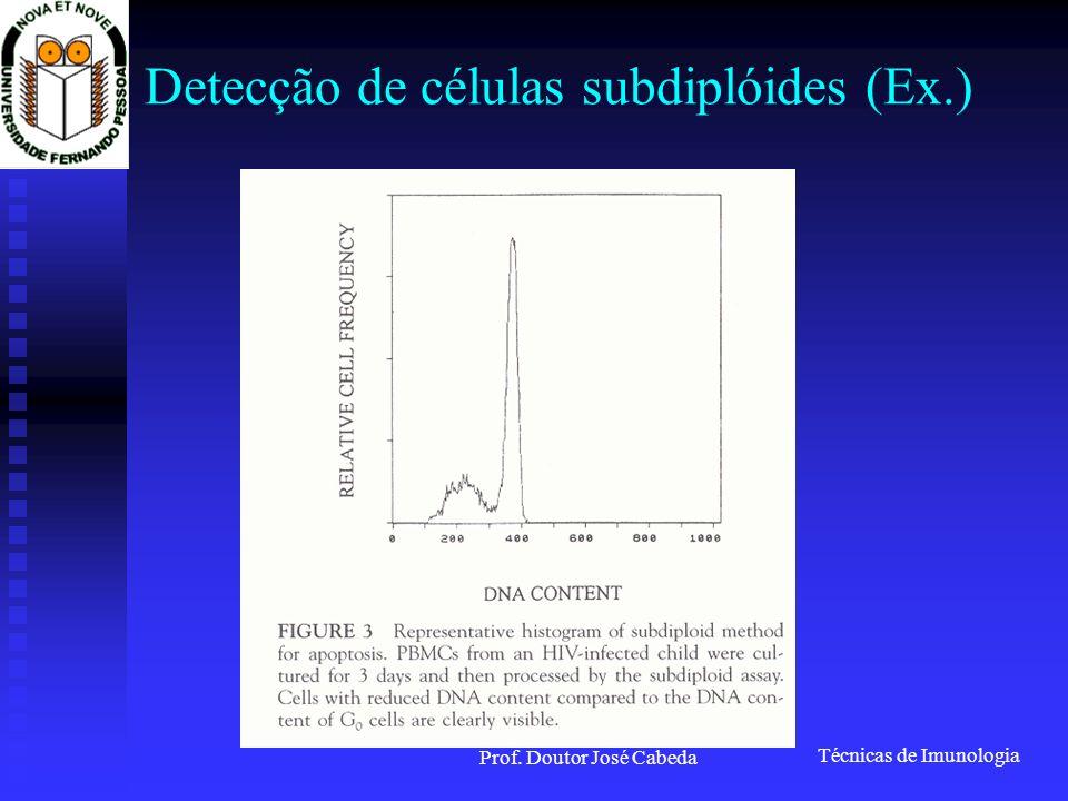 Detecção de células subdiplóides (Ex.)