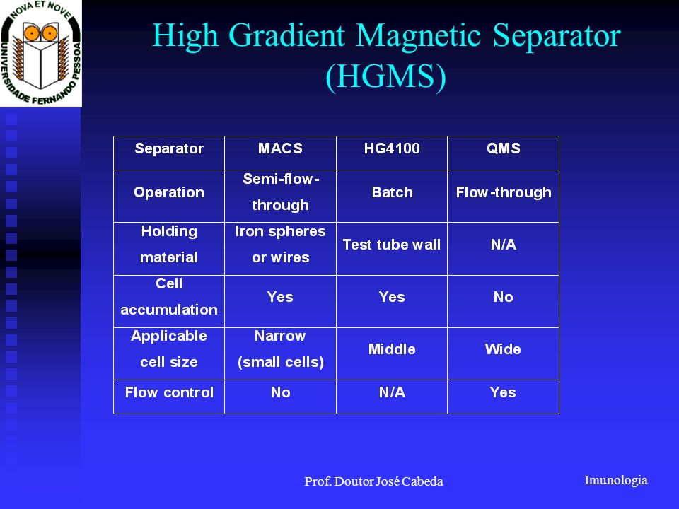 High Gradient Magnetic Separator (HGMS)