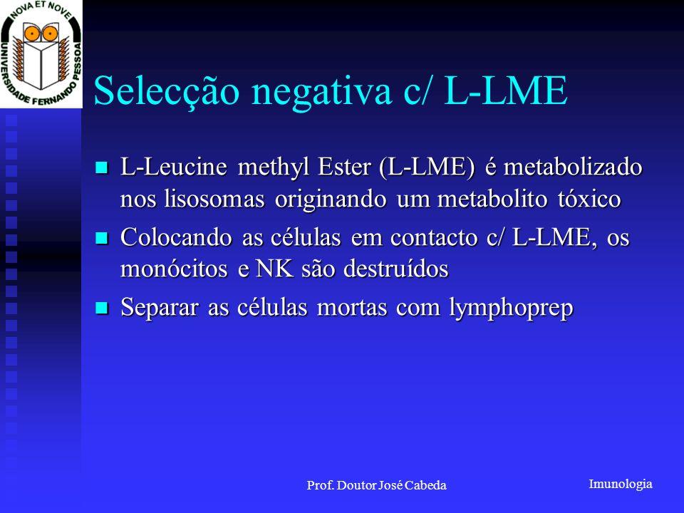 Selecção negativa c/ L-LME