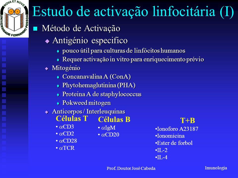 Estudo de activação linfocitária (I)