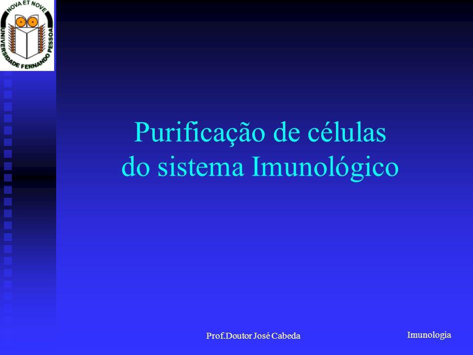 Purificação de células do sistema Imunológico
