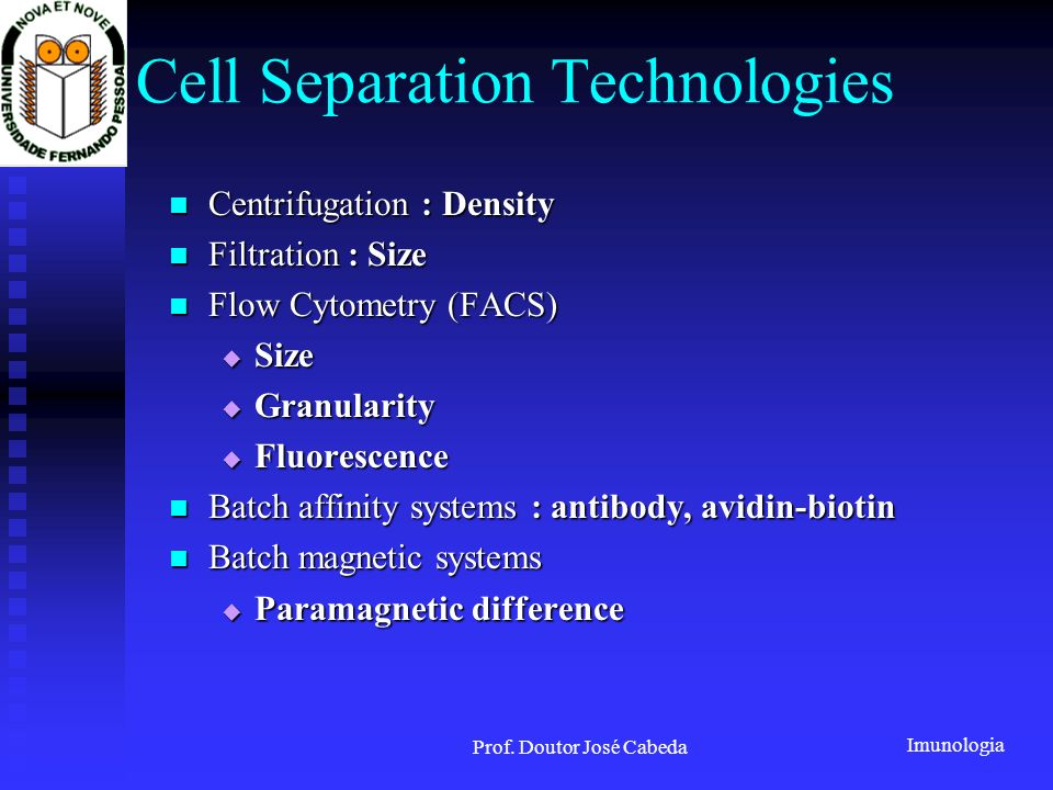 Cell Separation Technologies