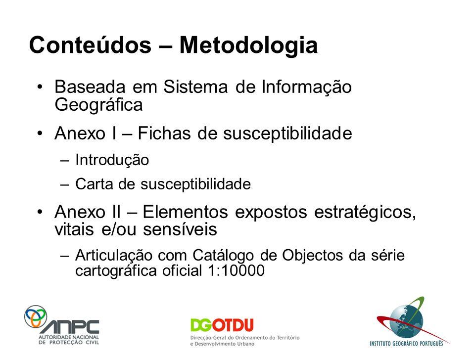 Conteúdos – Metodologia