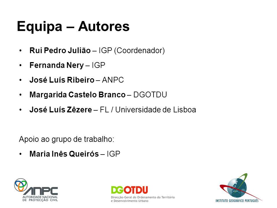 Equipa – Autores Rui Pedro Julião – IGP (Coordenador)