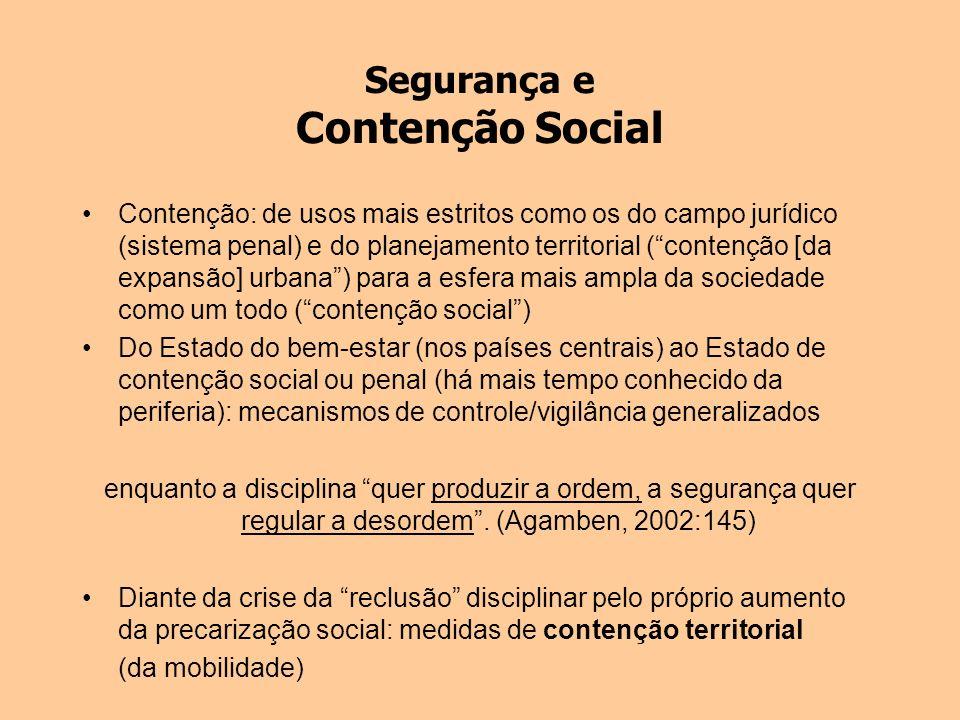 Segurança e Contenção Social