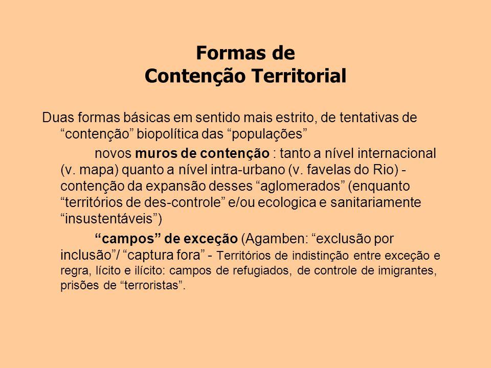 Formas de Contenção Territorial