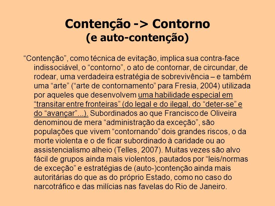 Contenção -> Contorno (e auto-contenção)