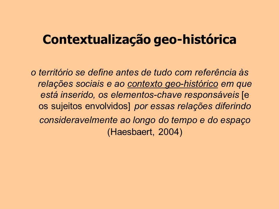 Contextualização geo-histórica