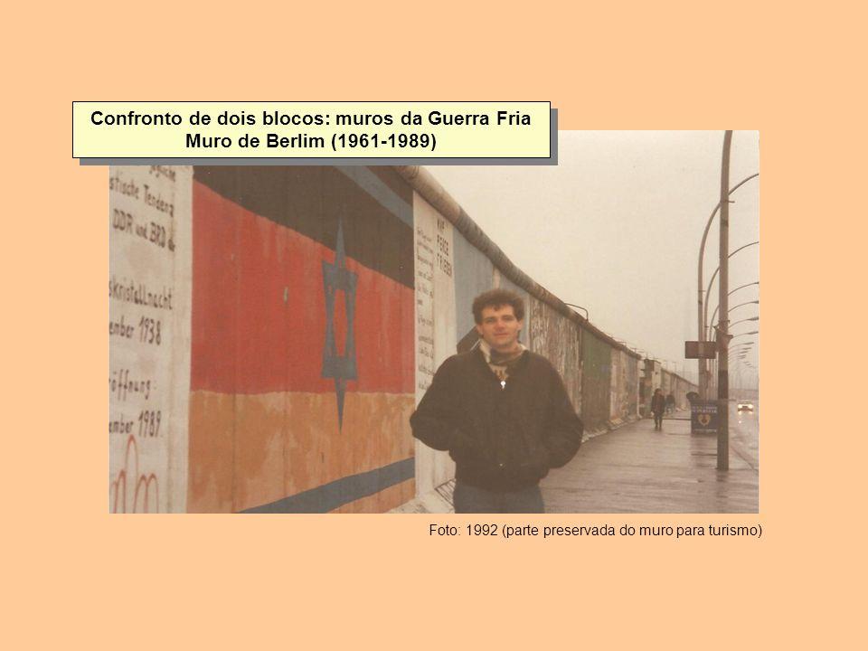 Confronto de dois blocos: muros da Guerra Fria Muro de Berlim (1961-1989)