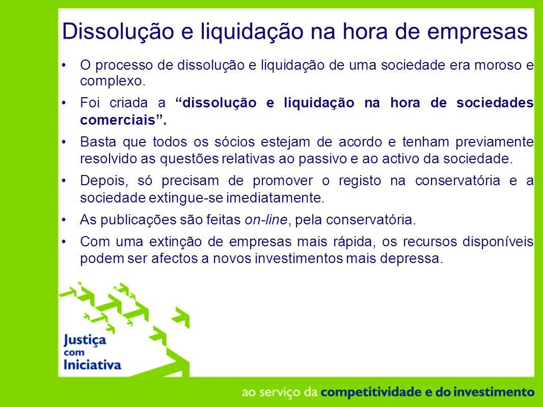 Dissolução e liquidação na hora de empresas
