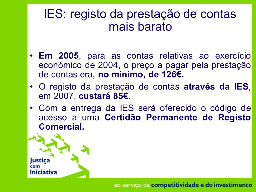 IES: registo da prestação de contas mais barato