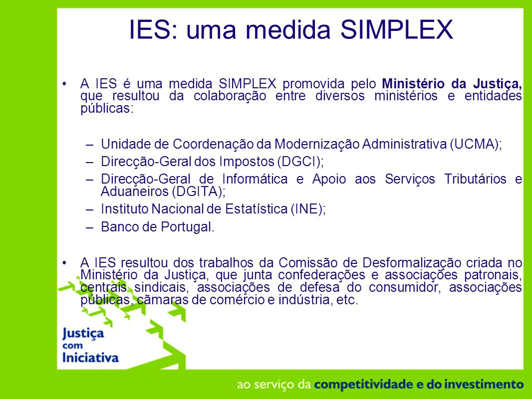 IES: uma medida SIMPLEX