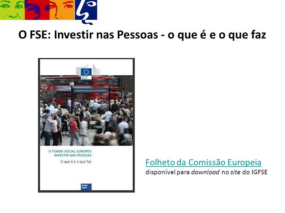 O FSE: Investir nas Pessoas - o que é e o que faz