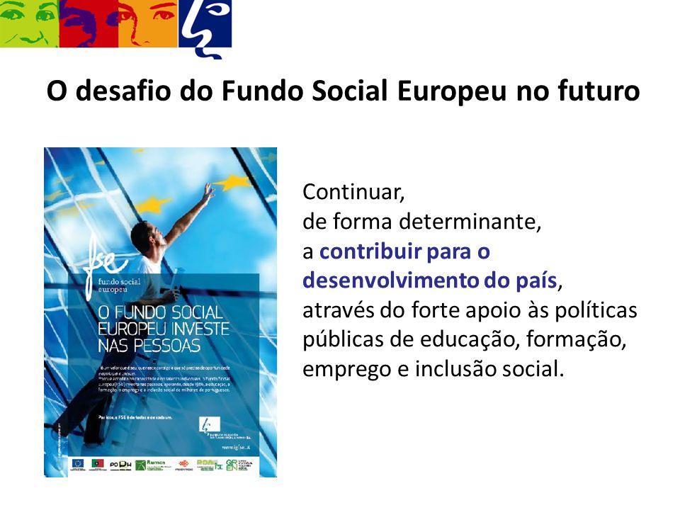 O desafio do Fundo Social Europeu no futuro