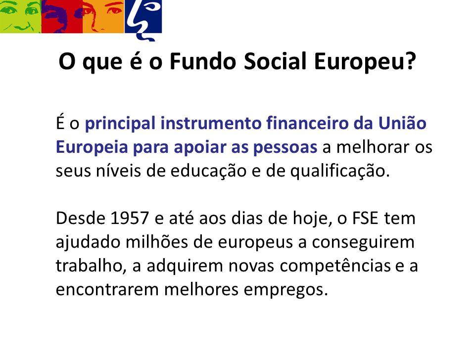 O que é o Fundo Social Europeu