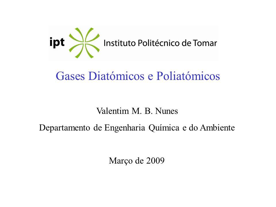 Gases Diatómicos e Poliatómicos