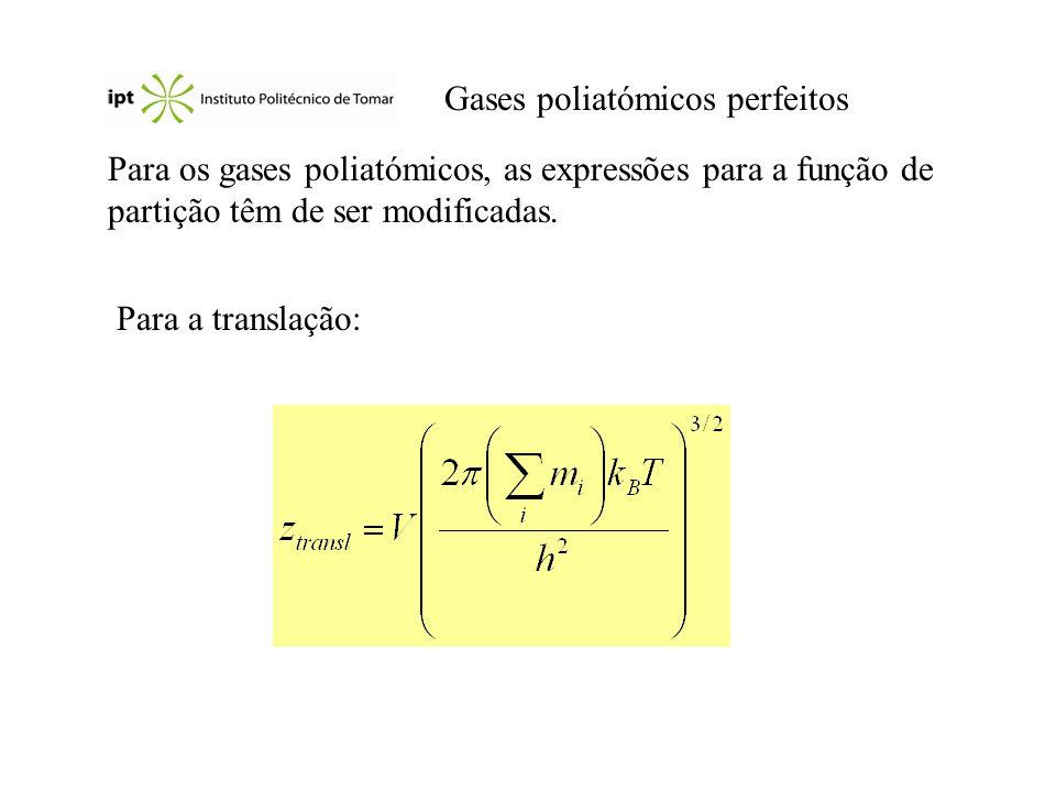 Gases poliatómicos perfeitos