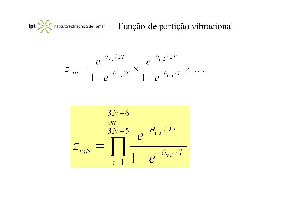Função de partição vibracional