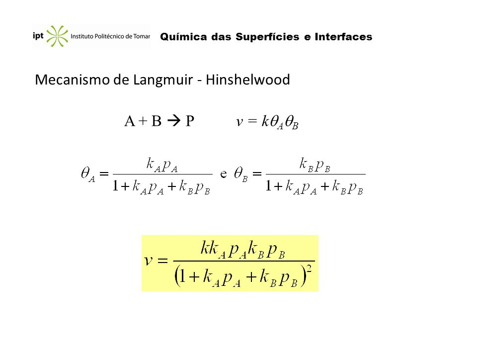 Mecanismo de Langmuir - Hinshelwood