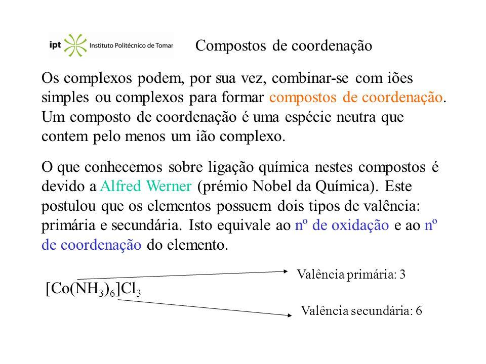 Compostos de coordenação