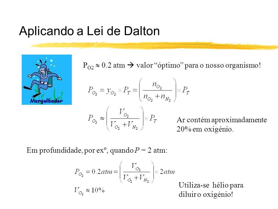 Aplicando a Lei de Dalton