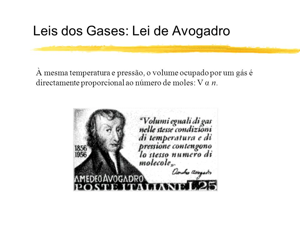 Leis dos Gases: Lei de Avogadro