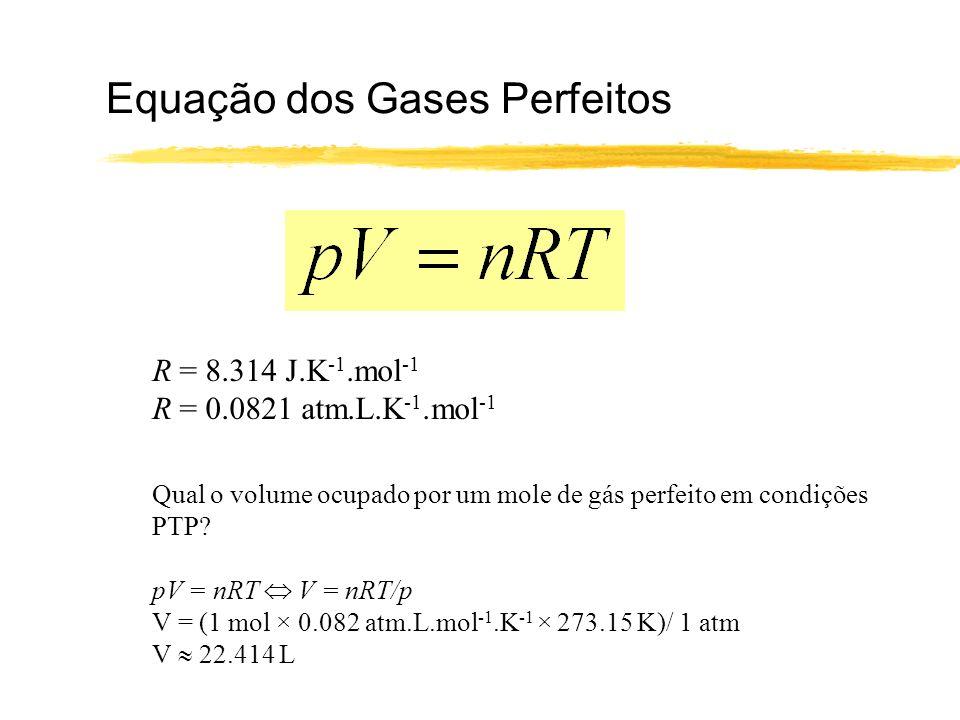 Equação dos Gases Perfeitos
