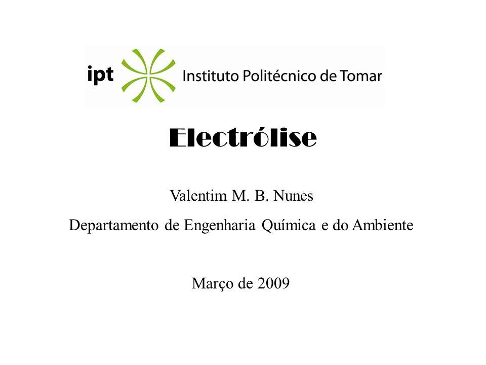 Departamento de Engenharia Química e do Ambiente
