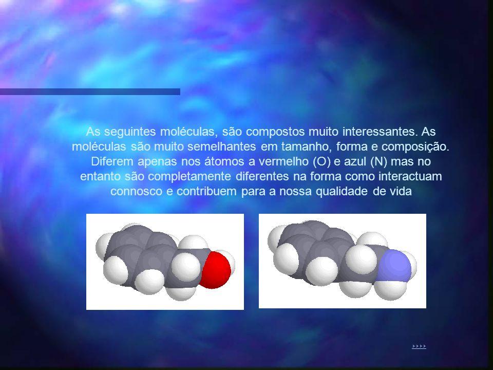 As seguintes moléculas, são compostos muito interessantes