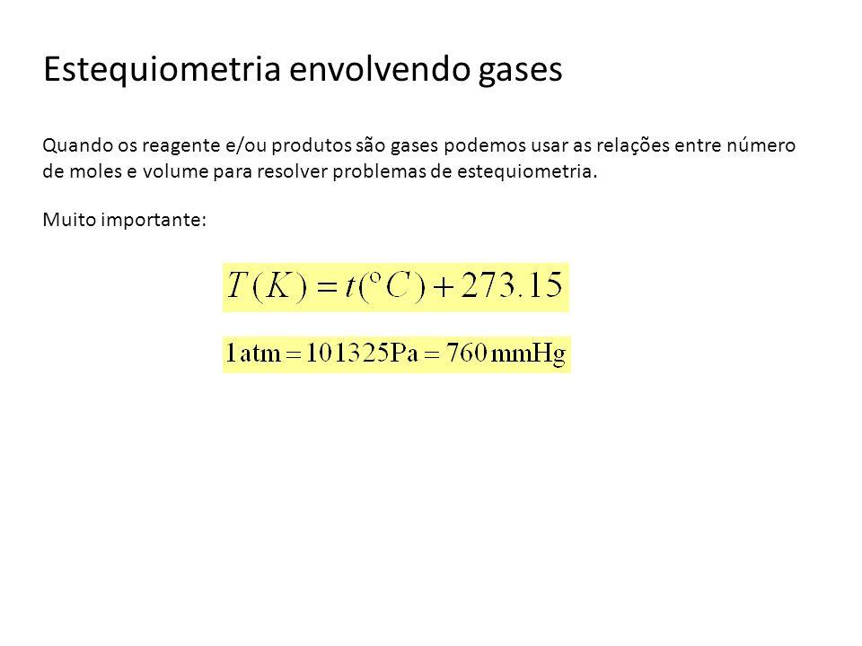 Estequiometria envolvendo gases