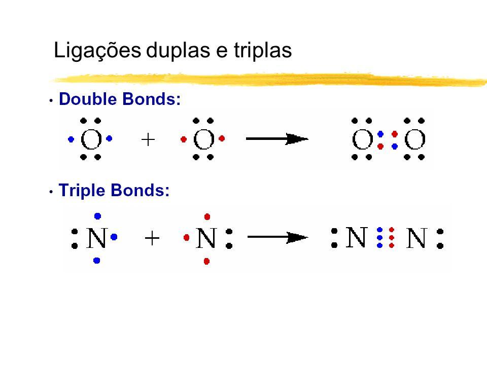 Ligações duplas e triplas